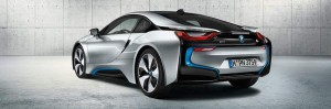 bmw i8 back view