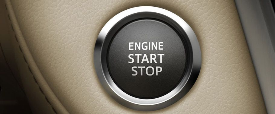 Toyota Land Cruiser engine stop start button
