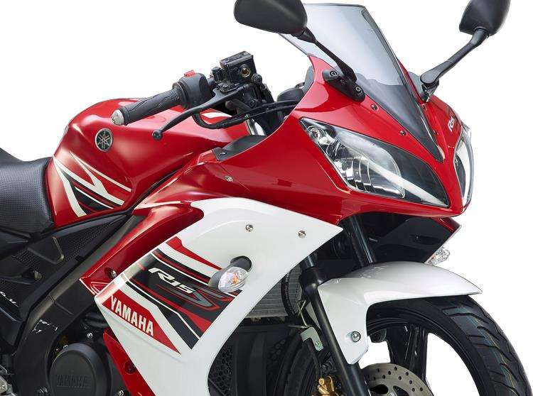 Yamaha YZF R15 S Version 1.0 Red-white HD Photo