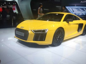 New Audi R8 2016 launched in 2016 Auto Expo by the Virat Kholi and Alia Bhatt.