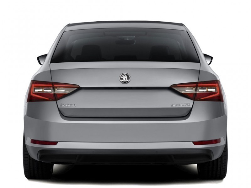 Skoda Superb Back View HD Photo