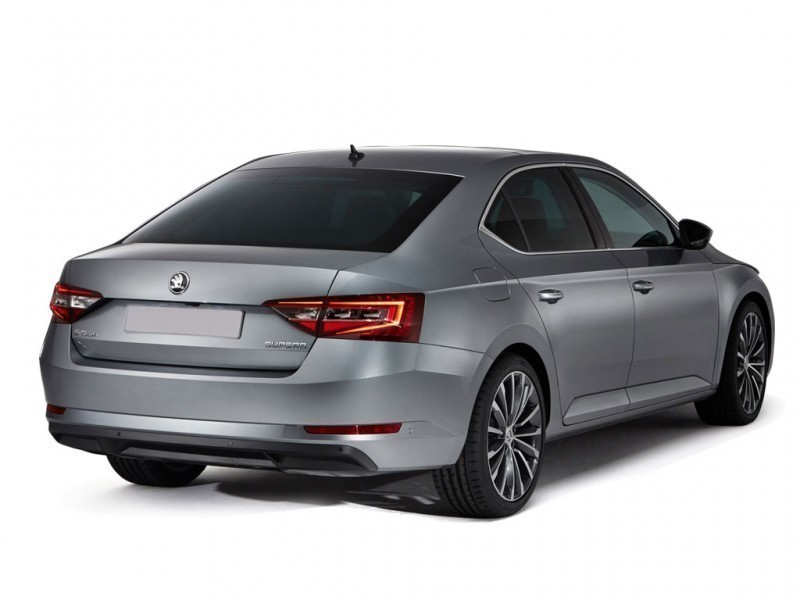 Skoda Superb Rear View HD Image