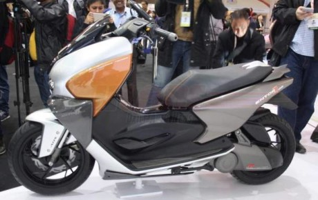 TVS Entorq 210 Concept Scooter (Scooty) showcased at 2016 Auto Expo in India
