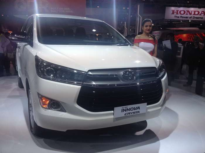 Toyota Innova Crysta Front chrome grill with Toyota Logo