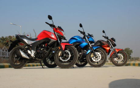 Comparison between Suzuki Gixxer vs Honda CB Hornet 160R vs Yamaha FZS Fi Version 2.0