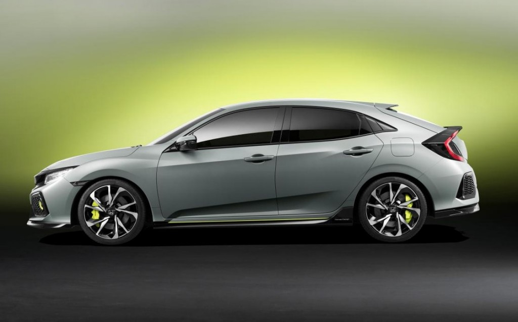 Honda Civic Hatchback Prototype Officially Unleashed At 2016 Geneva Motor Show Car N Bike Expert