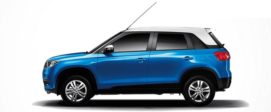 Maruti Vitara Brezza Blue Side View