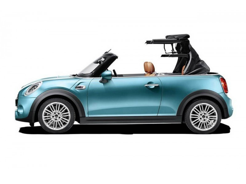 Mini Cooper Convertible With Open Roof