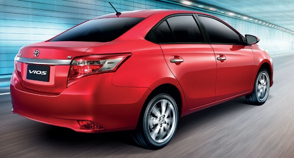Toyota Vios Back View