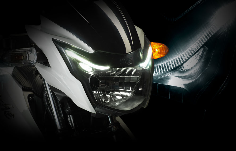 TVS Apache RTR 160 Headlamp with Daytime running light