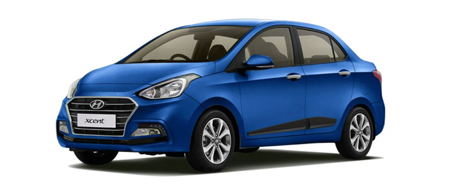 2017 Hyundai Xcent Blue HD Wallpaper
