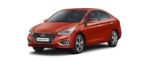 Hyundai Verna Flame Orange HD Images