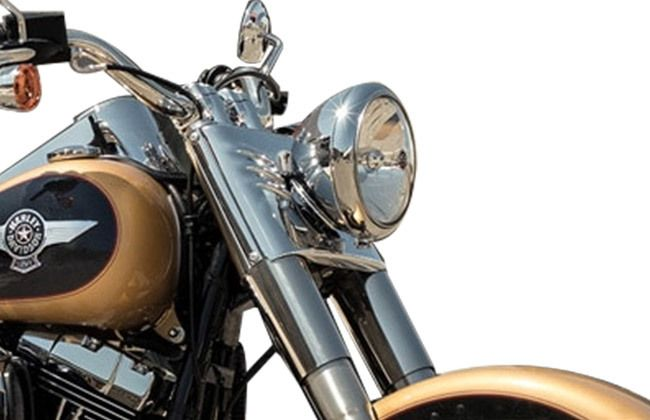 Harley Davidson Fat Boy headlight
